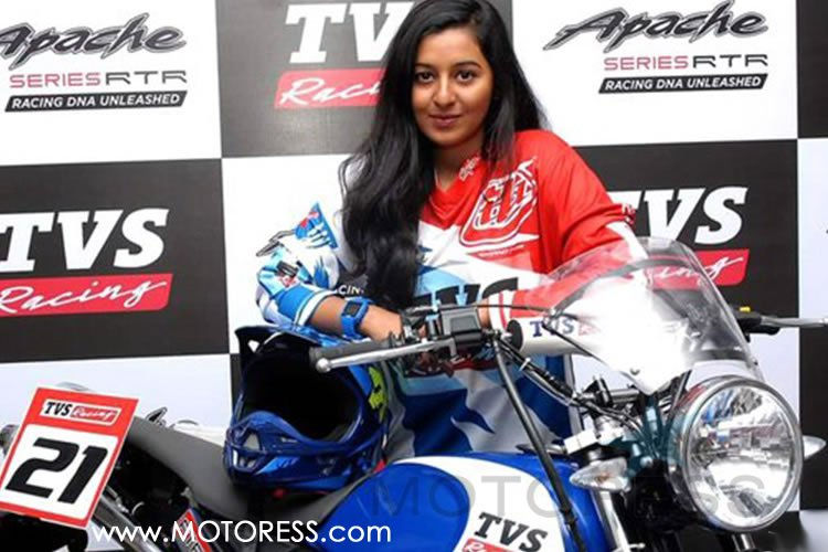 First woman rider FOR TVS RACING