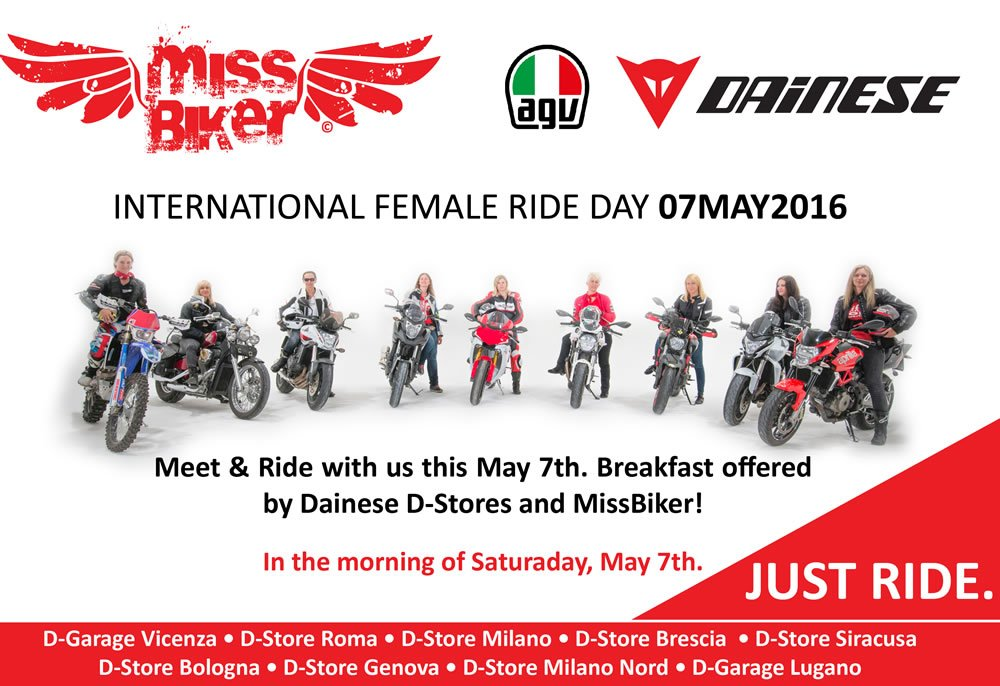 MissBiker and Dainese for International Female Ride Day
