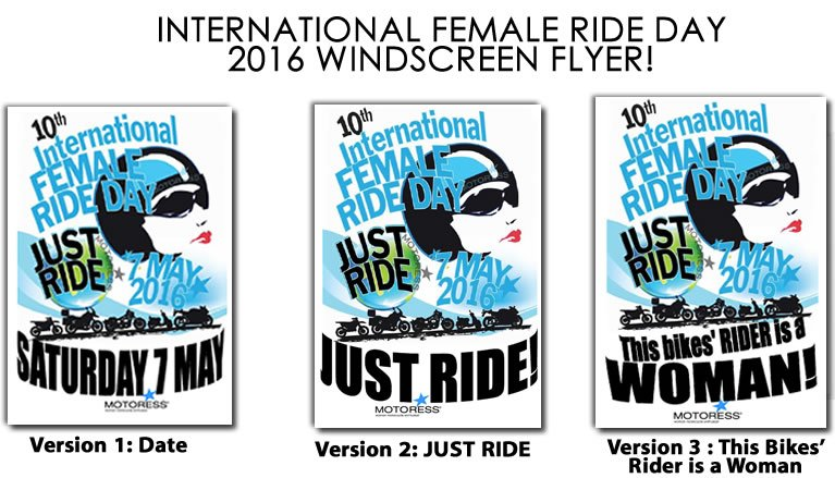 2016 International Female Ride Day Windscreen Flyer