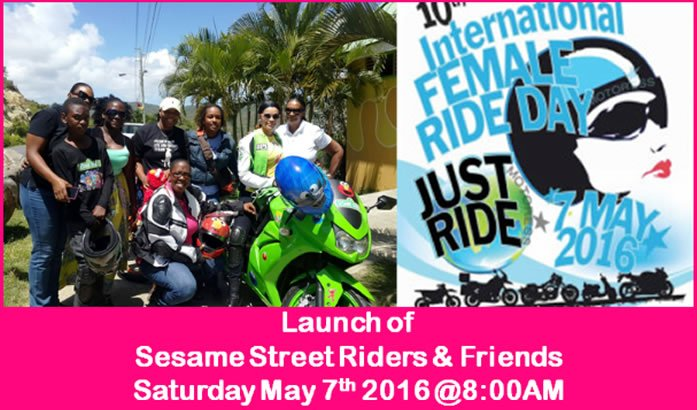 St Lucia Women Riders on MOTORESS