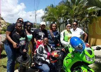 Women's Caribbean Motorcycle Club Makes Debut on International Female Ride Day