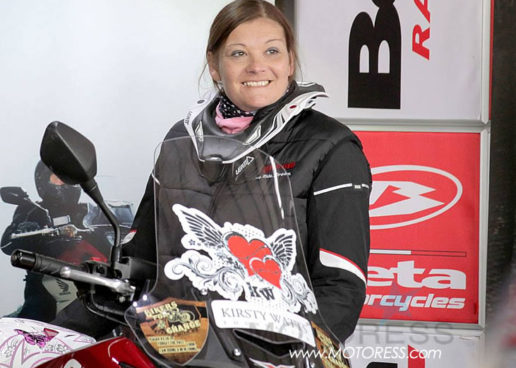 Double Amputee Woman Motorcyclist Riding for Limb's