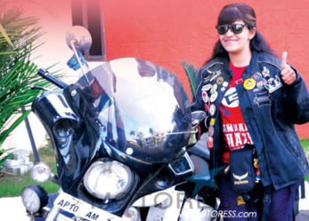 Sana Iqbal of India Completes Solo Motorcycle Ride For Anti-Suicide Campaign
