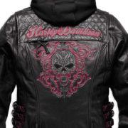 Harley-Davidson Women's Scroll Skull Leather Motorcycle Jacket- MOTORESS