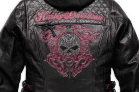 Harley-Davidson Women's Scroll Skull 3-in-1 Leather Motorcycle Jacket