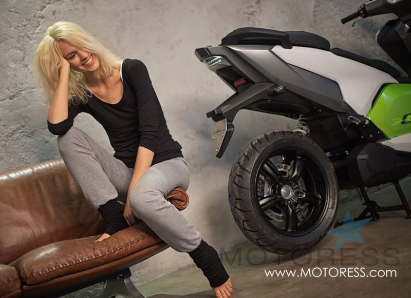 BMW C Evolution Electric Scooter on MOTORESS