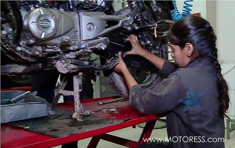 bangladesh government training women motorcycle mechanics