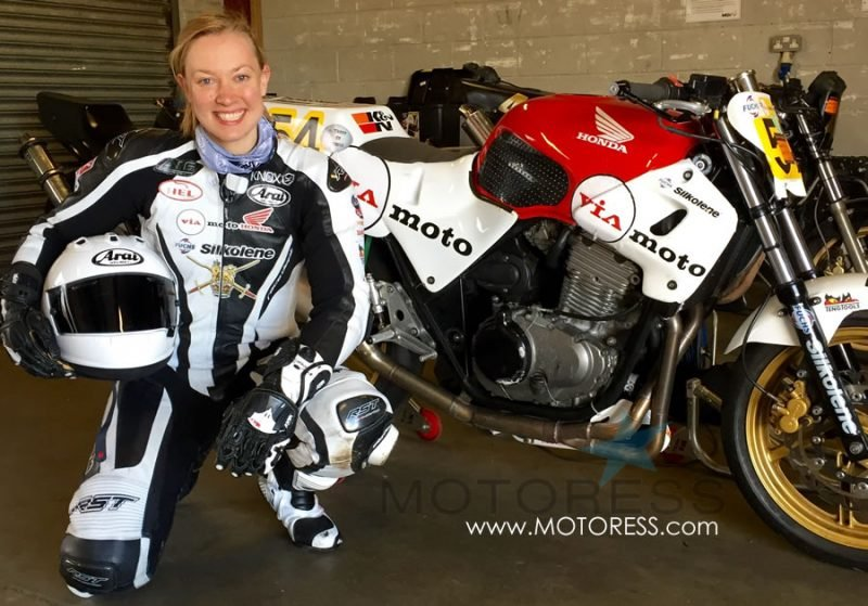 Woman Racer Lara Small Race Report on MOTORESS