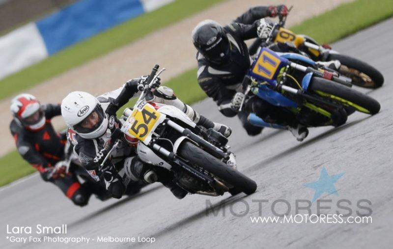 Woman Racer Lara Small Race Report on MOTORESS