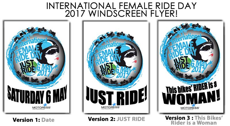 International Female Ride Day Windscreen Flyer 2017 on MOTORESS