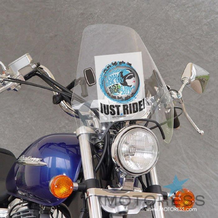 International Female Ride Day Windscreen Flyer 2017 on MOTORESS