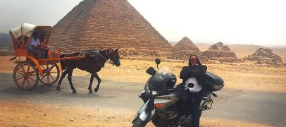 2017 International Female Ride Day Photo Contest Winner At Egyptian Pyramids