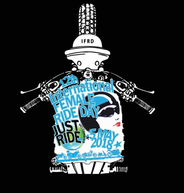 2018 International Female Ride Day Logo - MOTORESS