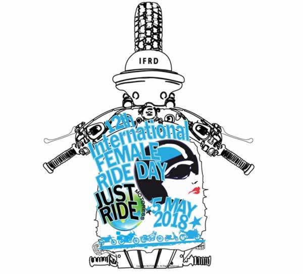 2018 International Female Ride Day Logo - MOTORESS