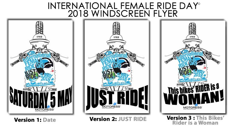 2018 International Female Ride Day Windscreen Flyer on MOTORESS