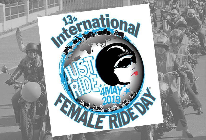 2019 International Female Ride Day Logo - Vicki Gray - MOTORESS