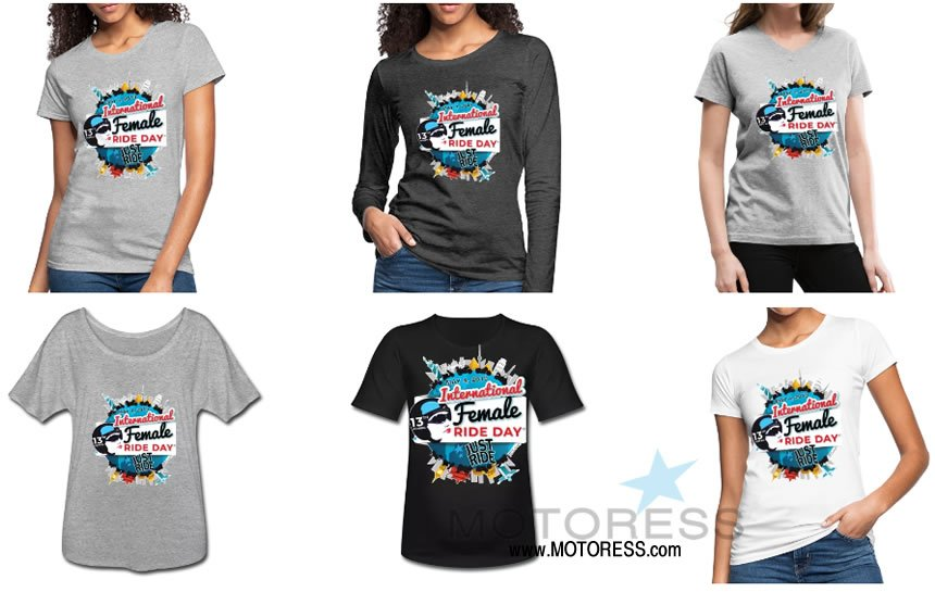 2019 International Female Ride Day T-Shirt - MOTORESS
