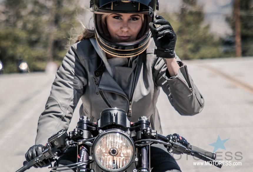 Roland Sands Mia Women's Motorcycle Jacket in Gunmetal,