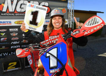 Tarah Gieger Champion in the AMA National Grand Prix Pro Women's Class